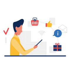 people consume buy goods online user consumer vector image