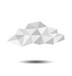 polygon cloud icon on white background vector image