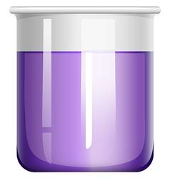 Purple liquid in glass beaker vector
