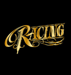 Racing vintage style in flat style for print or vector