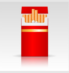 Red pack of cigarettes vector
