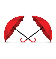 red umbrella vector image