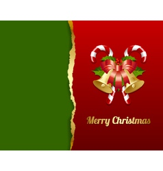 Ripped Christmas card vector image
