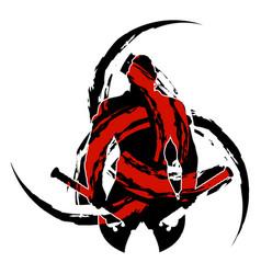Samurai silhouette 0001 vector
