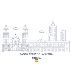 santa cruz de la sierra city skyline vector image