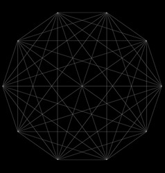segmented element with grid geometrical shape vector image