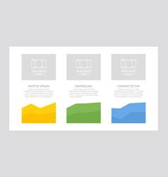 set blue green and orange elements for vector image