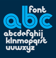 Set bold lower case alphabet letters with vector
