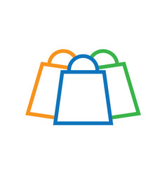 shopping bag logo icon image vector image