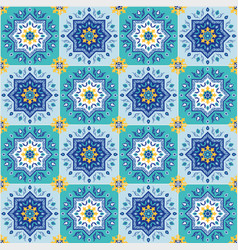 spanish inspiration seamless repeating pattern vector image