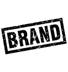 Square grunge black brand stamp vector
