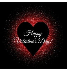 St valentines day glittering background with heart vector