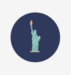 Statue of liberty new york landmark vector