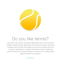 Tennis icon Yellow tennis ball vector