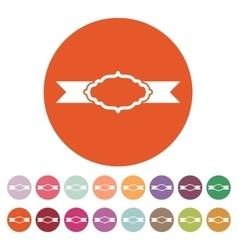 The label icon Ribbon symbol Flat vector image