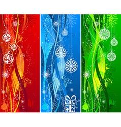 Three Christmas banners vector image vector image
