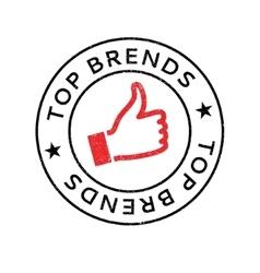 Top Brends rubber stamp vector