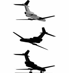 Tu-154 jetliner vector