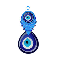 Turkish traditional glass amulet boncuk evil eye vector