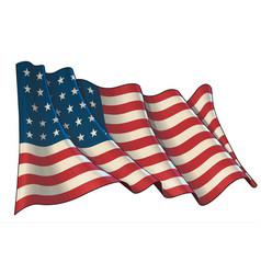 waving union flag 1861-1863 vector image
