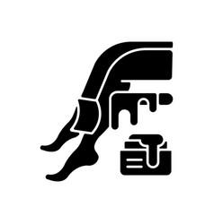 Waxing black glyph icon vector