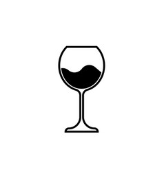Wine glass icon wineglass logo glassware sign vector