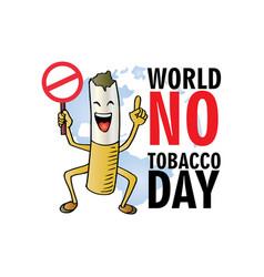 World no tobacco day concept vector