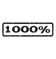 1000 percent watermark stamp vector image vector image
