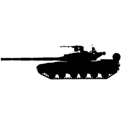 battle tank silhouette vector image vector image