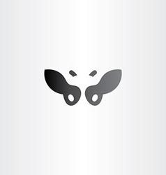 black cow logo icon design vector image vector image