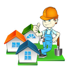 Builder and at home vector