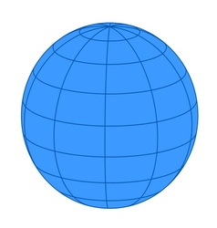 Earth on white background vector image vector image