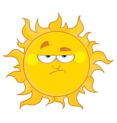 grumpy sun vector image vector image
