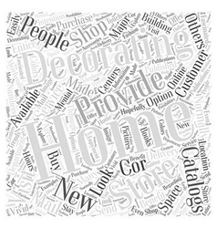Home decorating catalogs word cloud concept vector