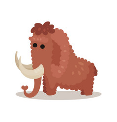 mammoth prehistoric extinct animal colorful vector image