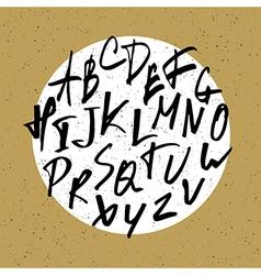 nervous hand drawn alphabet vector image