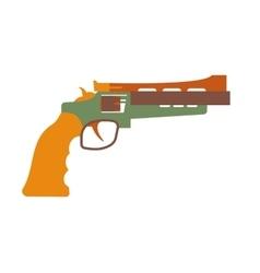 revolver icon cartoon vector image