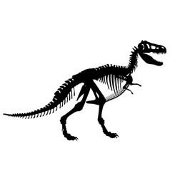 t rex skeleton vector image