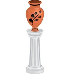 vase on column vector image vector image