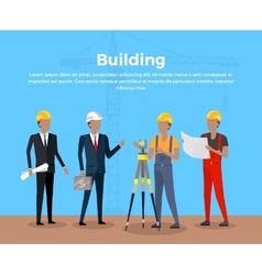 Building Banner Concept Design vector image vector image