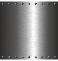 metal plate with screws vector image
