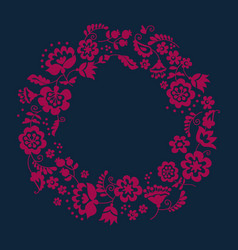 simple floral decorative wreath inspired by vector image
