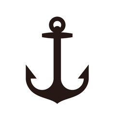 anchor sign vector image vector image