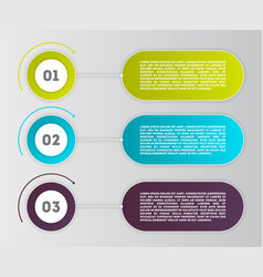 business infographics modern concept set vector image vector image