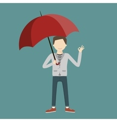 Business Man Holding a Parasol vector image vector image