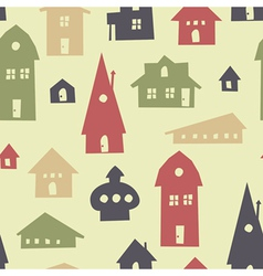 different houses seamless vector image vector image