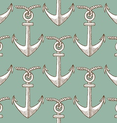 Egraved anchor vector image vector image