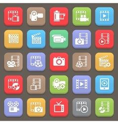 Film and movie icons for web or mobile vector image vector image