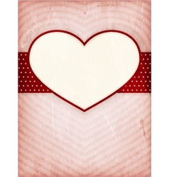 Heart frame on distressed background vector image