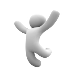 human happy jump in air vector image